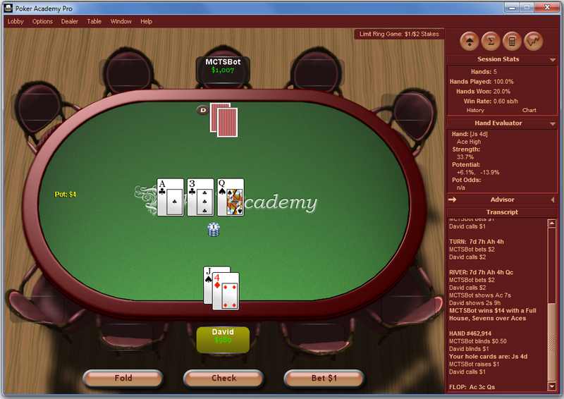 Screenshot of Poker Academy Pro