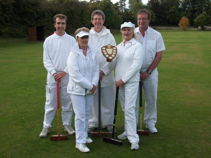 Abbey winning the Golf Handicap League in Taunton